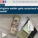 FOX5DC: Virginia Waiter Gets Surprised with TIPBOMB